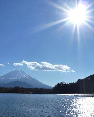 たまたま富士山。