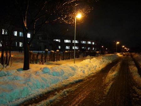 ( 夜の雪景色 )