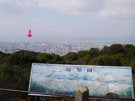 ( 京都の町が一望 )