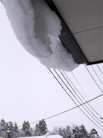 ( 屋根の雪がとけて・・・ )