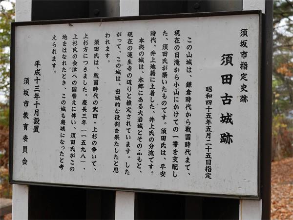 ( 須田古城跡 )
