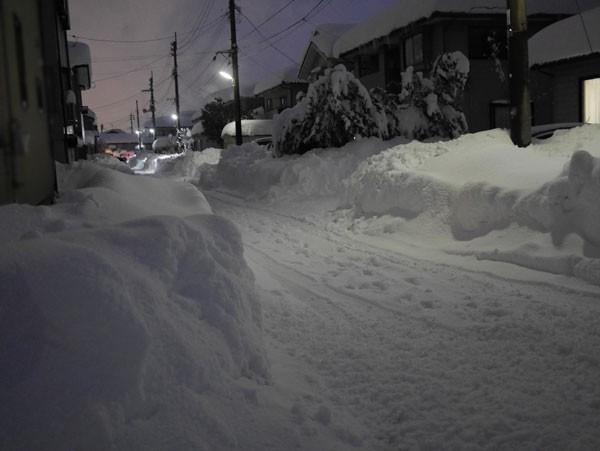 ( 今日の雪景色 )