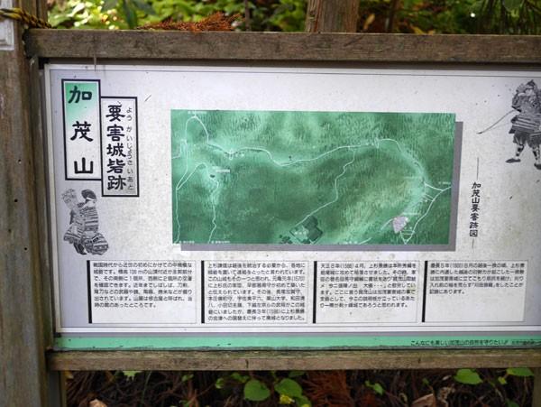 ( 加茂山は上杉の要塞 )