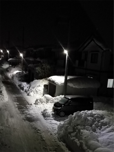 ( 雪やみました )